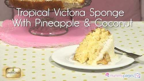 Tropical Victoria Sponge With Pineapple and Coconut