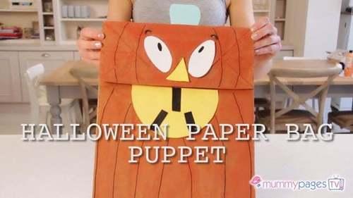 Halloween Paper Bag Puppet
