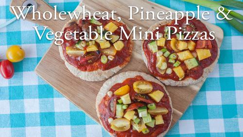 Wholewheat, Pineapple & Vegetable Mini Pizza