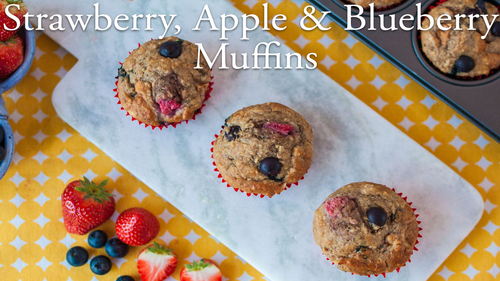 Strawberry, Apple & Blueberry Muffins