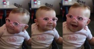 Little girl who went VIRAL after getting her first pair of glasses is now THRIVING