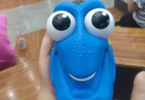 This innocent-looking Dory lamp is DEEPLY sinister when switched on