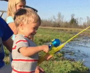 This video of a little boy fishing with his family will MELT your heart