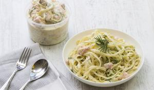 Salmon Pasta with Courgetti