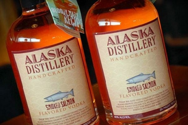 you can purchase smoked salmon flavoured vodka and we can