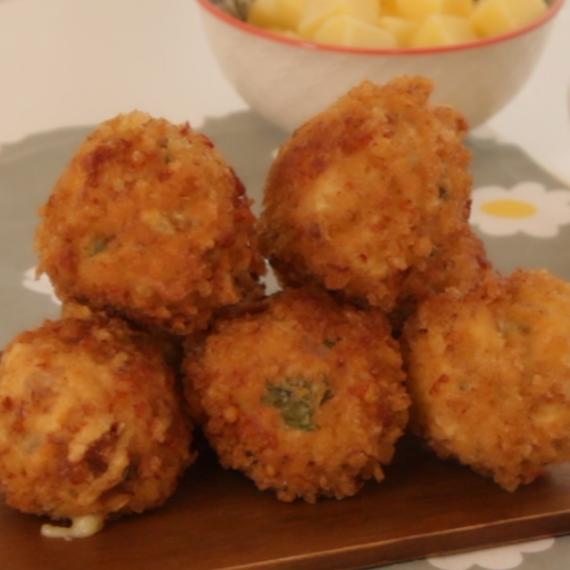 Deep fried turkey balls