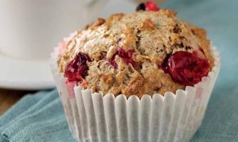 Hi-fibre fruit muffins