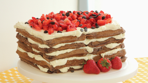 Chocolate waffle cake