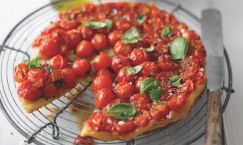 Tomato & basil tarte tatin