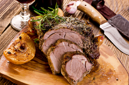 Herb crusted lamb