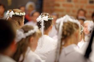 An orgy of materialism with miniature brides: This priest is NOT happy with Communions