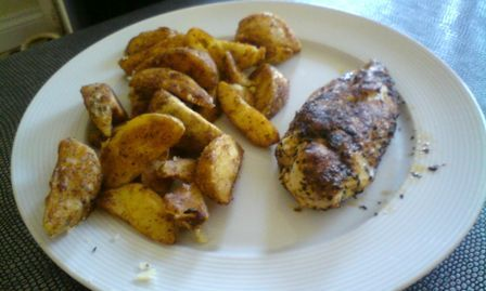 Cajun and coriander chicken fillets