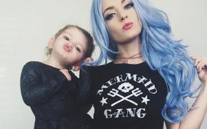 This mum dyed her two-year-old daughter's hair a VERY bright colour