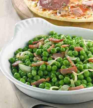 Pisellini con pancetta