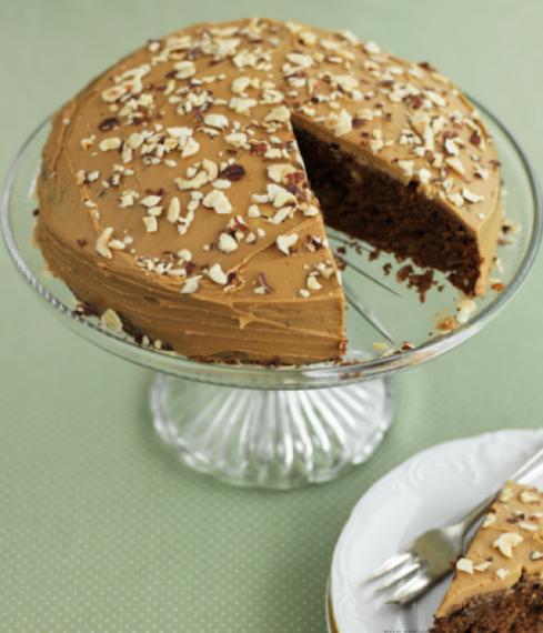 Coffee & hazelnut cake
