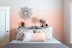 Ombré feature walls are our latest DIY decor obsession