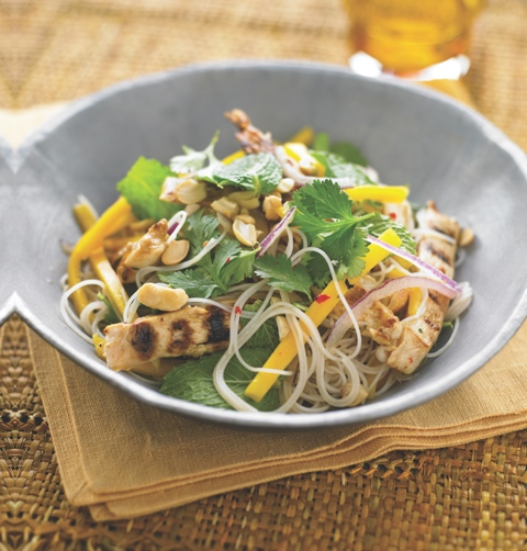 Spicy Chicken And Mango Noodles