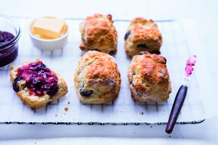 Cherry and vanilla scones