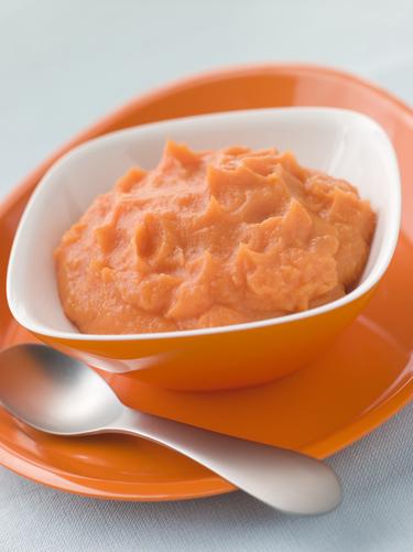 Pumpkin, sweet potato & apple puree