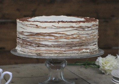 Guinness and Baileys crêpe cake