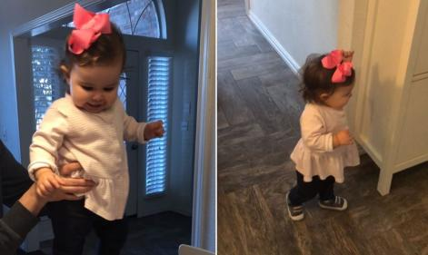 Toddlers reaction to seeing her mum is ADORABLE