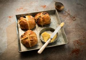 Orange chocolate hot cross buns