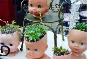 Doll head plant pots are a thing and we have questions