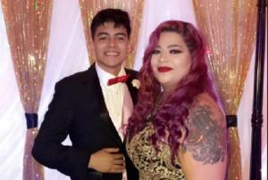 Teenager brings mum to the prom after she dropped out of school to raise him