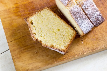 White chocolate loaf cake