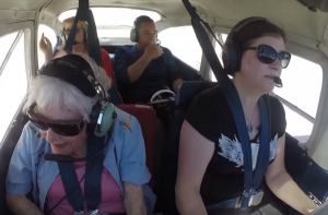 Aged 100, this fiesty pilot still commands the skies