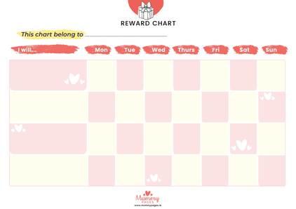 Reward chart for girls