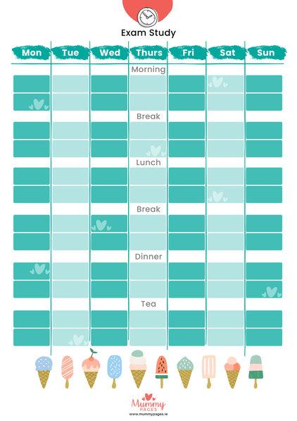 Exam Study Timetable