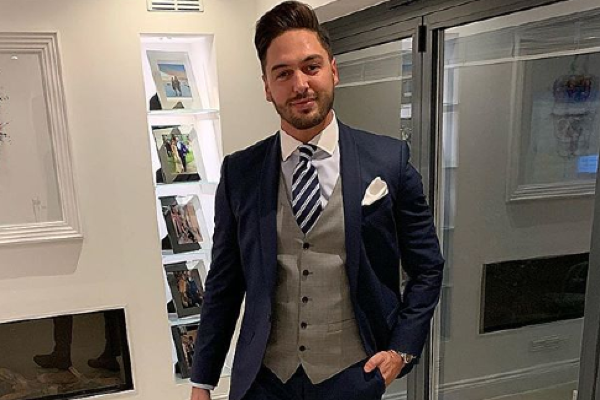 Adorable: Mario Falcone shares pic of him and his son in matching suits