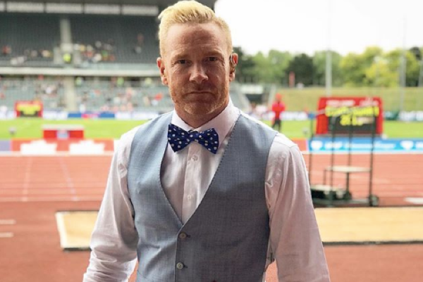 Olympic runner Iwan Thomas welcomes a baby boy but reveals that hes unwell