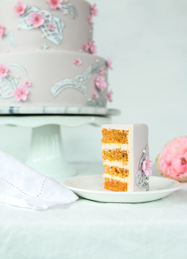 Smooth Carrot Cake with Cream Cheese Filling