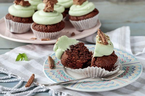Simply scrumptious: You just have to bake these tasty mint chocolate cupcakes