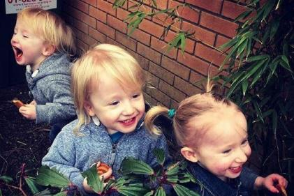 This is what it is like to be a mum of triplets