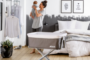 Win a Hauck face to me bedside cot