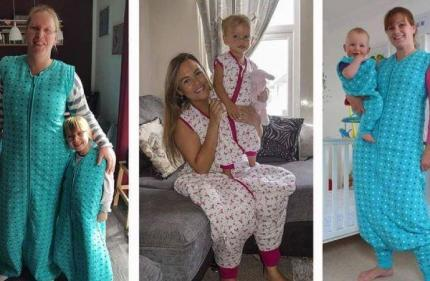 No April Fool: You can now match your little one in cute sleeping bags with feet