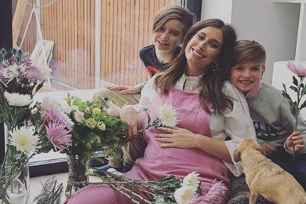 3 weeks old today: Stacey Solomon shares adorable snap of her three sons