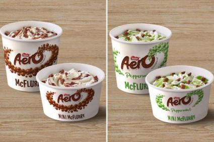 Drooling: McDonalds Aero and mint Aero McFlurry ice creams are BACK