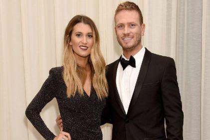 Not long to go: Matthew Wolfenden reveals Charley Webbs due date