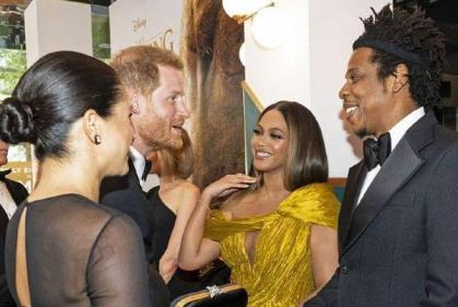 Beyoncé and Jay-Z share parenting tips with the Sussexes at Lion King premiere
