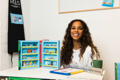 Rochelle Humes attends the launch of M&S Foods Little Shop