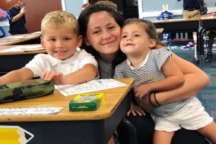 Jenelle Evans brings her kids to their first day of school after regaining custody