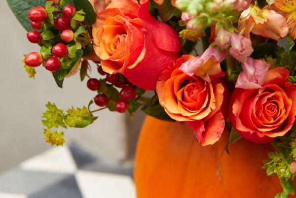 Autumn crafts: How to make a vase, from a pumpkin