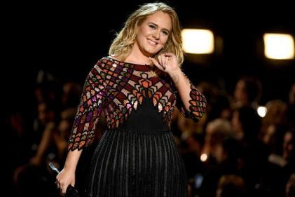 I used to cry but now I sweat: Adele dazzles in velvet dress at Drakes birthday