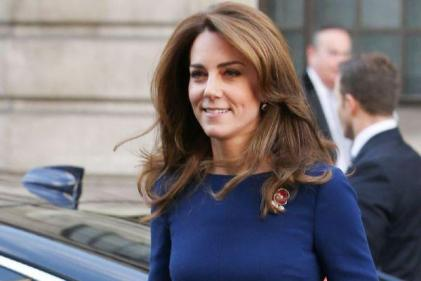 The Duchess of Cambridge wore the most beautiful blue dress today