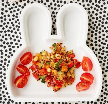 Quinoa with Mediterranean vegetables by Annabel Karmel