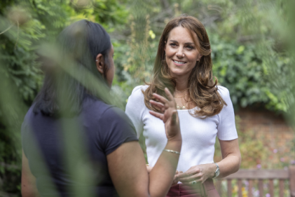Kate Middleton talks to mums about the importance of parent support groups